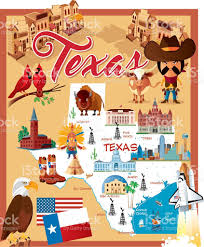 Map Of San Antonio Texas Cartoon Map Of Texas Stock Vector Art 622218774 Istock