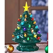 ceramic light up christmas tree small tabletop christmas tree with lights mogams