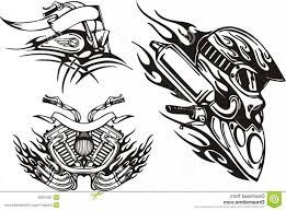 29 tribal motorcycle tattoos for stylish tribal designs bike
