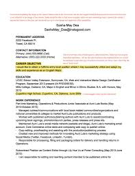 Certification Letter From Employer Resume Teardown You Know You Re Creative But Do Employers