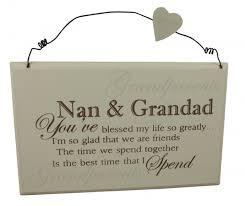 grandparent plaques best nan grandad plaque gifts for women gisela