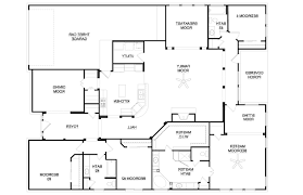 floor plan simple single story 4 bedroom house plans for