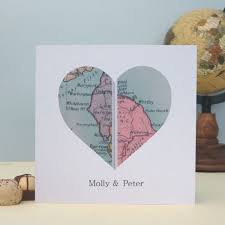 personalised vintage uk map card location s day