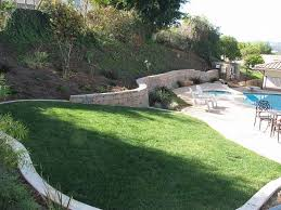 Landscaping Ideas For Sloped Backyard Sloped Backyard Landscaping Designs With Small Pool Home Design