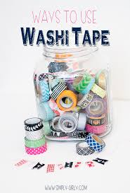 things to do with washi tape simply girly ways to use washi tape