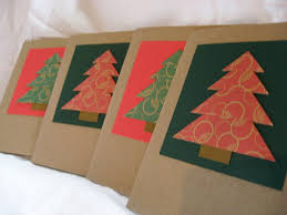 here to there new listing christmas tree origami cards