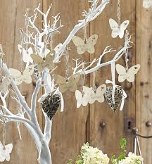 wedding wishing trees decorative white twig tree 104cm wedding wedding and butterfly