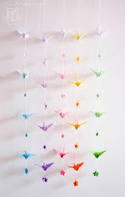 origami chambre bébé guirlande origami chambre bebe idées de design d intérieur et de
