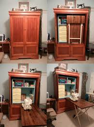 sewing armoire thanks to pinterest and its wonderfully crafty users i have