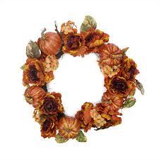 thanksgiving wreath northlight 24 artificial autumn floral and harvest pumpkin
