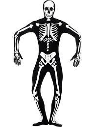 skeleton glow in the dark mens bodysuit costume halloween adults