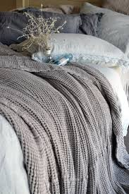 natural linen comforter pre order fossil grey waffle textured linen quilt bed cover