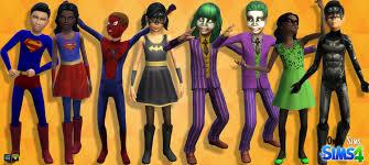 Batman Kids Halloween Costume Ts4 Halloween Costumes Kids Onyx Sims