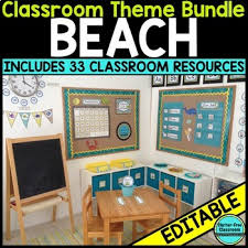theme classroom decor theme classroom decor editable by clutter free classroom tpt