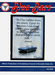 national council of corvette clubs blue bars