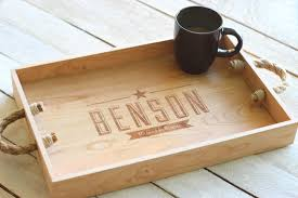 personalized trays custom personalized wooden serving tray engraved name and wooden