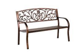 Patio Furniture Assembly Amazon Com Plow U0026 Hearth Blooming Patio Garden Bench Park Yard