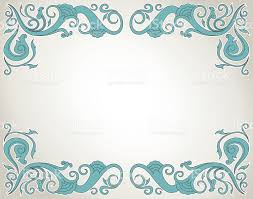 floral ornament frame in blue stock vector 468621584 istock