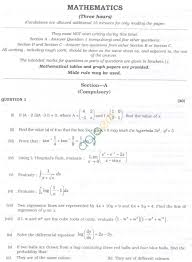 isc question papers 2013 for class 12 u2013 mathematics aglasem schools