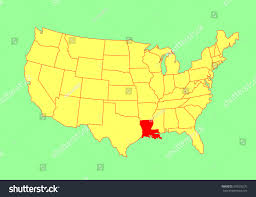 Unites States Map by Louisiana State Usa Vector Map Isolated Stock Vector 303926276
