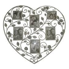 vintage roses multi aperture heart photo frame valentines