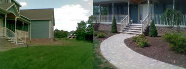 like icing on a cake stone walkway and classy landscaping before