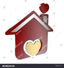 real estate rent building home love stock illustration 442487089