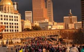 thanksgiving day half marathon and 5k out and about atlanta