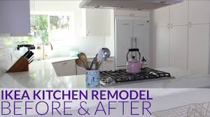 Before And After Kitchen Remodels by Ikea Kitchen Remodel Before U0026 After Los Angeles Ca Youtube