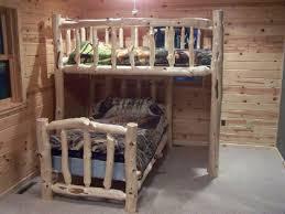 BunkBedsForestLogFurnitureRailing - Log bunk beds