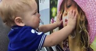a toddler land an adorable while shopping with