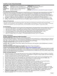 hamilton finance cv accounting financial statement