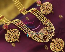 gold plated beads necklace images Nl1687 4 strand one gram gold plated beads haram long necklace JPG