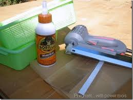 pregnant with power tools cheap easy diy bathroom cabinet drawers