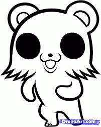 drawn teddy bear chibi pencil color drawn teddy bear chibi