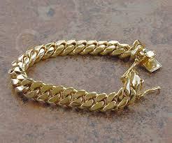 cuban chain bracelet images Solid 14k gold miami men 39 s cuban curb link bracelet heavy 8 quot 67 9 jpg