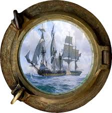 huge 3d porthole fantasy pirate ship view wall stickers film art huge 3d porthole fantasy pirate ship view wall stickers film art decal