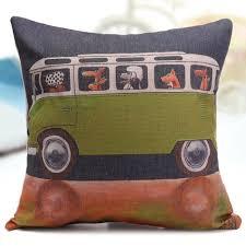 housse de coussin canapé housse coussin canapé sofa décor motif chien voiture type c