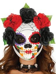 Day Of The Dead Mask Halloween Day Of The Dead Masks Party Superstores