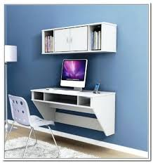 floating desk white white floating computer desk by a white wall mounted storage with a pair