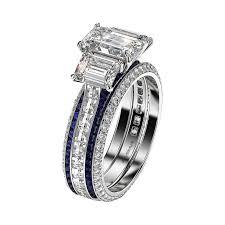 emerald cut engagement rings three emerald cut engagement rings