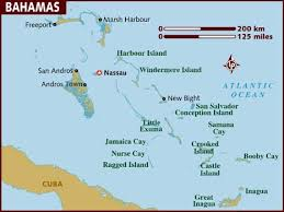 bahamas on a world map map of bahamas