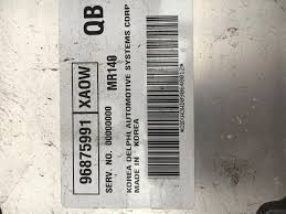 holden barina tk ecu 1 6l petrol manual delphi mr140 96875991 xaow