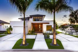 ideas modern front yard landscaping with concrete walkway homecm