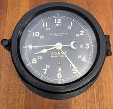 ww ii era u s navy chelsea clock co boston 8 day ship u0027s 24 hour
