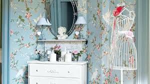 papier peint chambre romantique quels motifs pour un style shabby chic papier peint fleuri papier