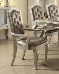 dining table 62080 in champagne by acme w options