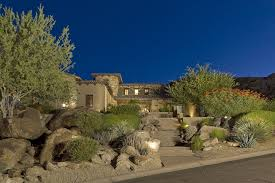 Southwest Landscape Design by Landscape Design Tucson Southwestern With Desert Tiki Torches