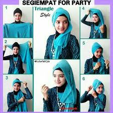 tutorial hijab segitiga paris simple jilbab paris hijab tutorial pinterest hijabs gaya hijab and
