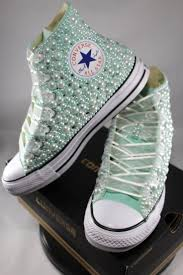 Wedding Shoes Converse 28 Best Pearls U0026 Bling Wedding Converse Images On Pinterest